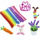 100PCS DIY Chenille Stems Pipe Cleaners 5MM Children Kids Plush Educational Toy