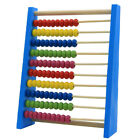 Colorful Wooden Beads Abacus 10 Rows Math Counting Kids Early Educational Toy