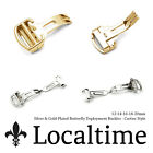 Butterfly Deployment Premium Watch Strap Buckle Clasp Steel Gold Plated 12-20mm