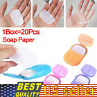 200pcs/10 Boxs Sheets Portable Disposable Soap Paper Travel Hand Washing Scented