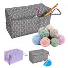 Durable Large Yarn Storage Bag Knitting Crochet Tote Organizer Holder Case