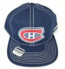 Men's Reebok NHL Montreal Canadiens Hat Cap Large Logo Boxy Snapback, OSFM, Navy $15.29 USD on eBay