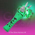 "Flashing Triceratops 7"" inch Dinosaur Wand LED Light up Toy"