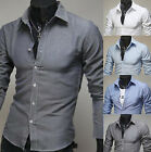Mens New Fashion Luxury Long Sleeve Business Casual Dress Shirts Formal Top W814