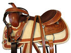 WESTERN COWBOY ROPING SADDLE ROPER RANCH PLEASURE FLORAL TOOLED LEATHER 15 16