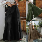 ZANZEA Womens Flare Swing Wide Leg Pants Palazzo Trousers Culottes Maxi Skirt