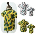 Toddler Baby Boy Short Sleeves Summer Shirts Romper Pineapple Printed Party Tops