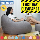 Extra Large Bean Bag Chair Sofa Cover Indoor/Outdoor Game Seat Couch Lazy S