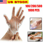 100-1000PCS Healty Plastic Clear Gloves Food Cleaning Home Catering Beauty Use