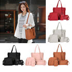4pcs Womens 4-in-1 Adjustable Casual Handbag Lightweight Wallet Card Bag Set