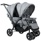 Foldable Lightweight Front Back Seats Double Baby Infant Stroller Gray/Black US