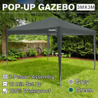 3x3m Pop up Gazebo Waterproof Marquee Canopy Outdoor Garden Party Tent With Side