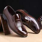 US Men's Business Office Shoes Formal Work Oxfords Leather Loafers Casual  !