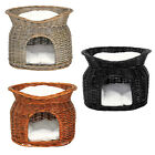 Cat wicker basket cat cave basket with cushions choice of colours 55x39x43 cm