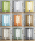 2 Pack: Semi Sheer Plaid Grommet Top Window Curtains - Assorted Colors
