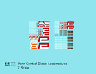 K4 Z Decals Penn Central Diesel Locomotive Red and White Heralds