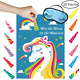 Unomor Pin The Horn On The Unicorn Party Game for Kids Party Games Supplies, 24