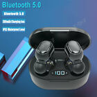 TWS True Wireless Bluetooth 5.0 Headphones Stereo Earbuds In-Ear Earphones Bass
