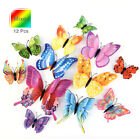 FixedPrice3d butterfly design wall stickers magnetic decals home room art decor 12pcs diy