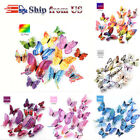 3d Butterfly Design Wall Stickers Magnetic Decals Home Room Art Decor 12pcs Diy