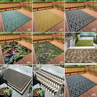 SMALL-EXTRA LARGE INDOOR / OUTDOOR PATIO CONSERVATORY GARDEN GEOMETRIC RUGS MATS