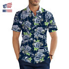 US Seattle Seahawks Summer Hawaiian Shirt Aloha Short Sleeve Button Up Tee Shirt $31.34 USD on eBay