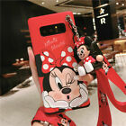 For Samsung Galaxy S10+ S20 S21 Plus Note 20U 10 Cartoon Case Cover & Stand Doll