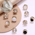 10pcs Women Crystal Brooch For Scarf Shawl Hijab Brooch Pins Anti-light Buttons