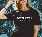 New York Manhattan  - slogan ladies t shirt Cute Crew Neck Sassy Fashion top