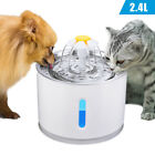 2.4L Automatic Electric Pet Water Fountain Cat/Dog Drinking Dispenser w/ Filter