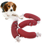 Pet Toys Sausage Squeaky Healthy Latex Dog Toys Sausage On Rope Home & Kitc JM