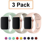3 Pack Silicone Sport Band Strap for Apple Watch 6 5 4-1 iWatch SE 38/40/42/44mm