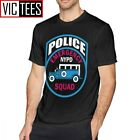Mens Nypd T Shirts NYPD EMERGENCY SQUAD POLICE T-Shirt Printed Tee Shirt Summer