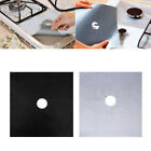 4PCS Reusable Gas Range Stove Top Burner Protector Mat Liner Cover For Cleaning