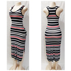 Women's Casual Summer Sleeveless Striped Maxi Boho Bodycon Stretch Dress