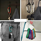 50/100pcs High Quality Aluminum Carabiner Spring Belt Clip Key Chain Hot