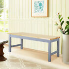 Pine Bench Seat Shabby Chic Wooden Benches 2 3seater Dining Garden Leisure Stool