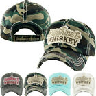 Sunshine And Whiskey Womens Distressed Vintage Adjustable Baseball Hat Cap