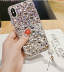 Tassel + handmade Bling Diamond Crystal Clear Back phone Case TPU Cover Ladies