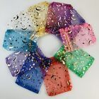 25/50/100 Moon Star Organza Gift Bags Wedding Jewellery Drawstring Party Pouches