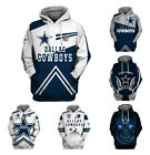 Dallas Cowboys Hoodie Football Hooded Sweatshirt Pullover Fans Casual Jacket