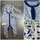 2 pack MOTHERCARE baby boy blue whale sea sleepsuits babygrows rompers 0 - 36m