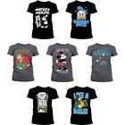 Official Disney Mickey and Minnie Mouse Donald Duck Ducktales Womens T-shirt