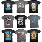Official Disney Mickey and Minnie Mouse Donald Duck Ducktales Mens T-shirt