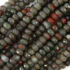 Faceted African Blood Agate Rondelle Beads 15