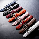12-24mm Solid Pu Leather Watch Band Strap Men/women Watchband