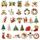Christmas Brooch Brooches & Pins Enamel Badges Christmas Jewelry Santa Claus