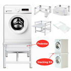 Washing Machine Pedestal Laundry Tumble Dryer Stand Holder / Stacking Kit Steel