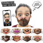 Unisex Adult Face Printed Funny Face Outdoor Breathable Cycling Mask US