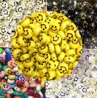 50x Smiley Flat Round Disc Beads 10mmx5mm For Jewellery Making -pick Your Colour